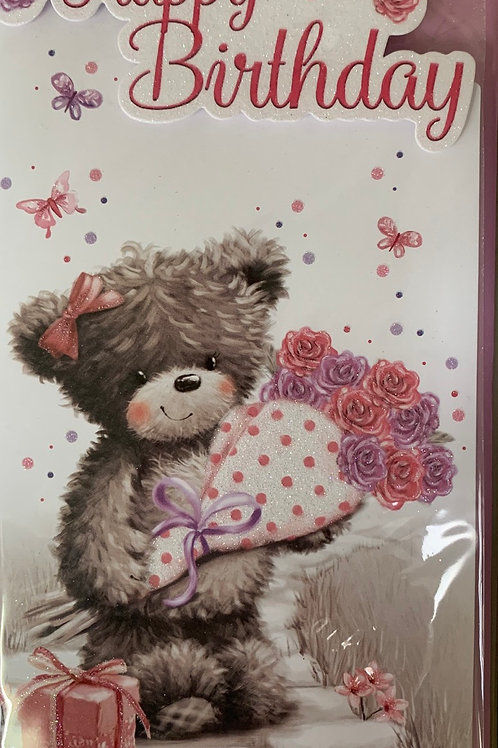 Female Cute Birthday Card Suitable for Any Age FREE POSTAGE