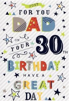 Dad 30th Birthday Card