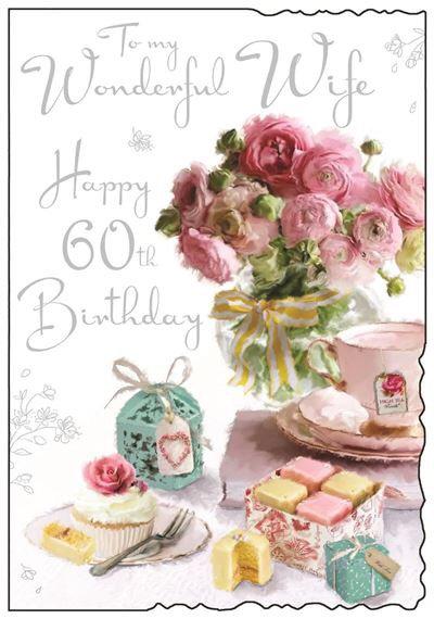Wife 60th Birthday Card