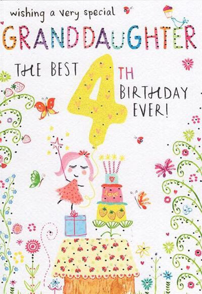 Wishing a very special Granddaughter the best 4th birthday ever