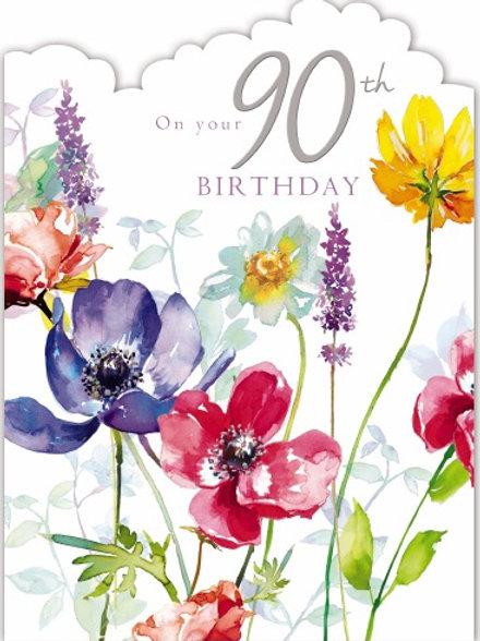 Female Birthday Card On Your 90th Birthday