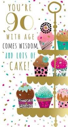 Female 90th Birthday Card