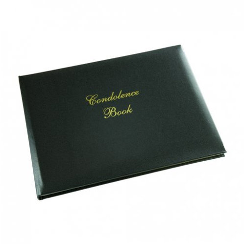 Condolence Black Padded Guest Book