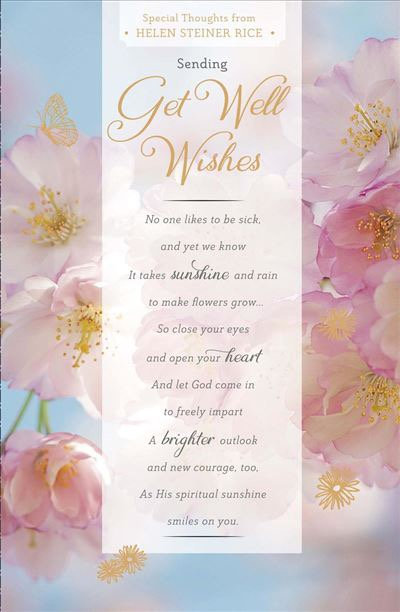 Get Well Card Special Thoughts from HELEN STEINER RICE