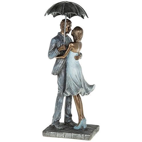 Rainy Day Romance Embrace Figures