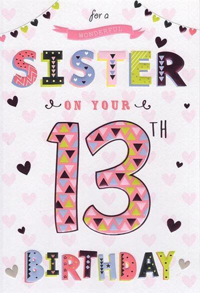 Sister 13th Birthday Card