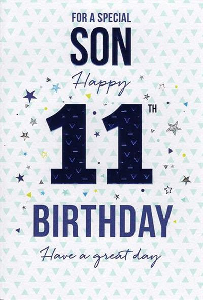 For a special Son Happy 11th Birthday