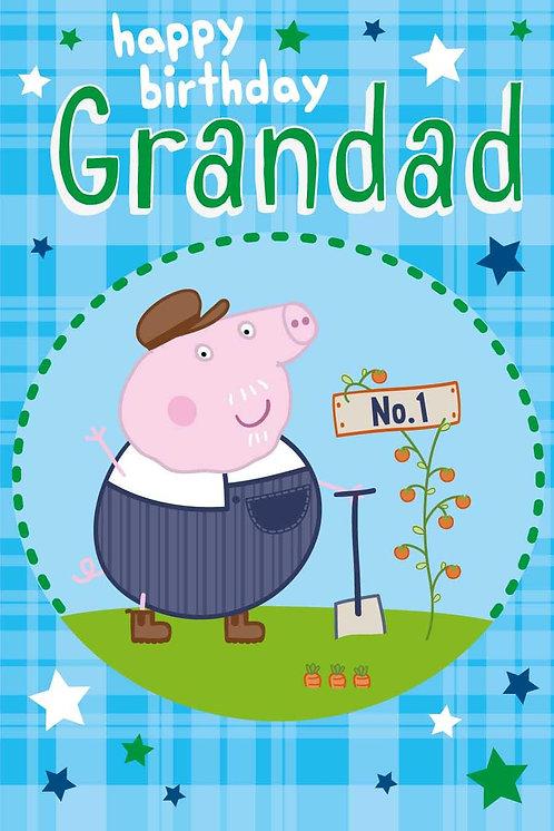 Peppa Pig Happy Birthday Grandad