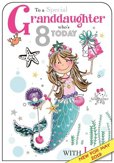 To a special Granddaughter who's 8 today