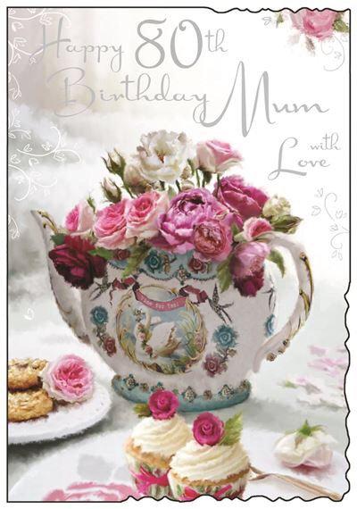 Mum 80th Birthday Card