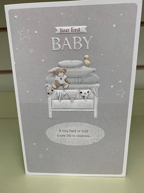"""Birth Card """"Your First Baby """""""
