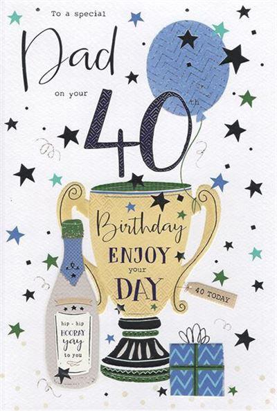 Dad 40th Birthday Card