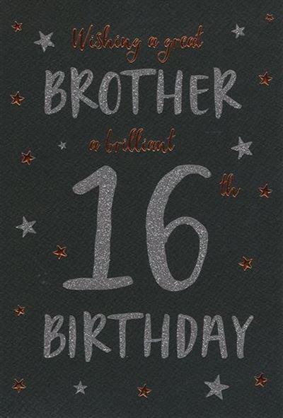 Brother 16th Birthday Card
