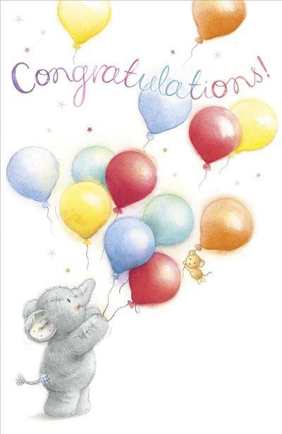 Congratulations Card Featuring Elliot & Buttons