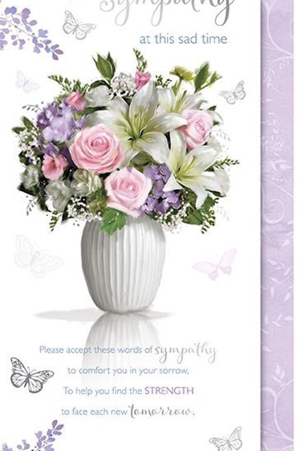 With deepest  Sympathy at this sad time card by Words & Wishes