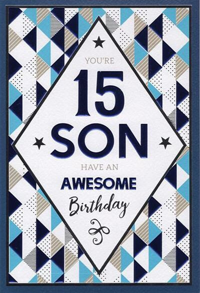 Son 16th Birthday Card