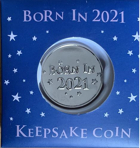 Born In 2021 Keepsake Coin