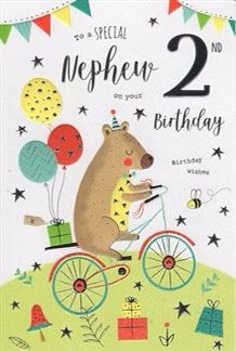 To a special nephew on your 2nd birthday