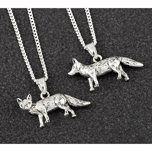 Equilibrium Silver Plated Fox Necklace Beautifully Boxed FREE POSTAGE
