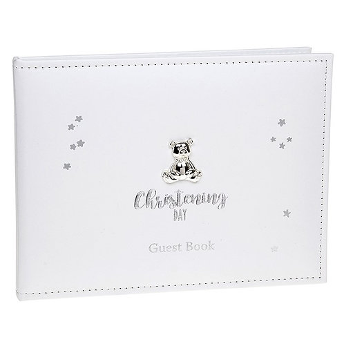 Christening Day White Guest Book
