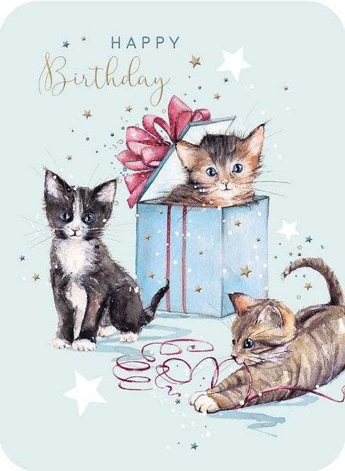Happy Birthday Kittens Design Card