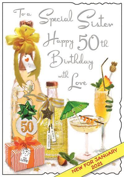 Sister 50th Birthday Card