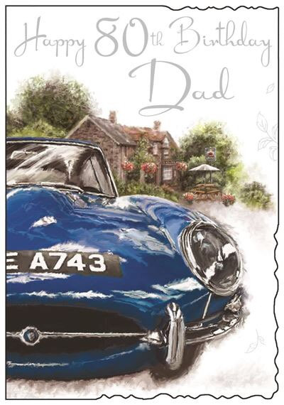Dad 80th Birthday Card
