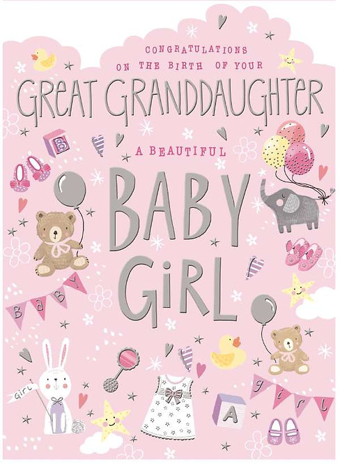 Congratulations On The Birth Of Your Great Grandson /Great Granddaughter