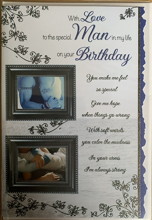 With Love To The Special Man In My Life On Your Birthday