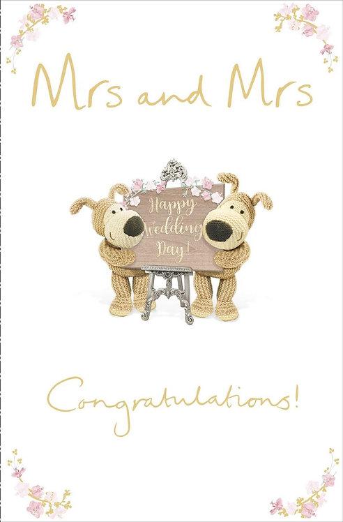 Mrs & Mrs Wedding Day Card
