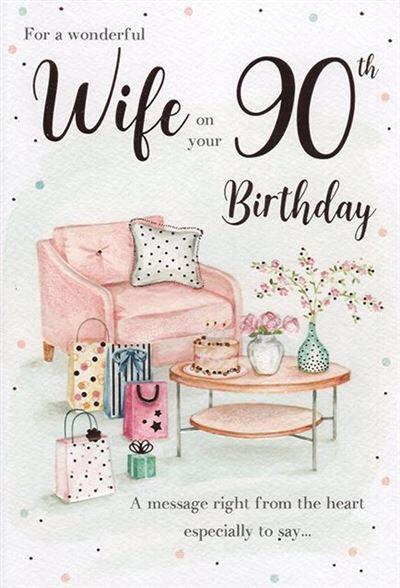 Wife 90th Birthday card