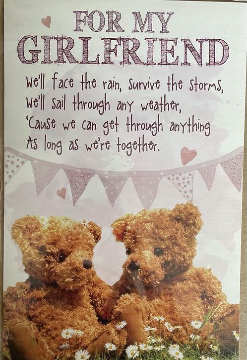 For My Girlfriend Birthday Card