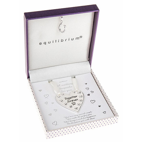 Equilibrium Wedding Heart Shaped Keepsake Boxed