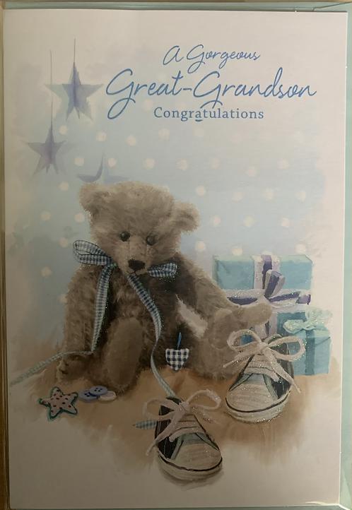 A Gorgeous Great-Grandson Congratulations