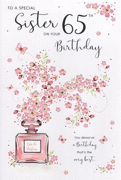Sister 65th Birthday Card