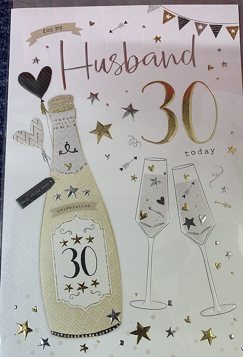 Husband 30th Birthday Card