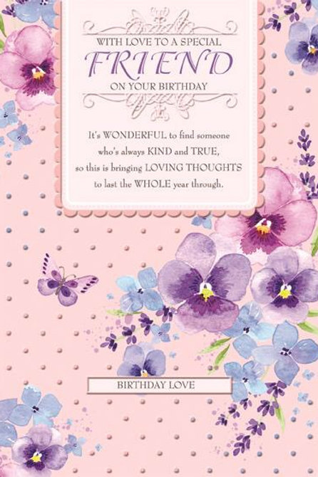 With love to a special friend Birhtday card