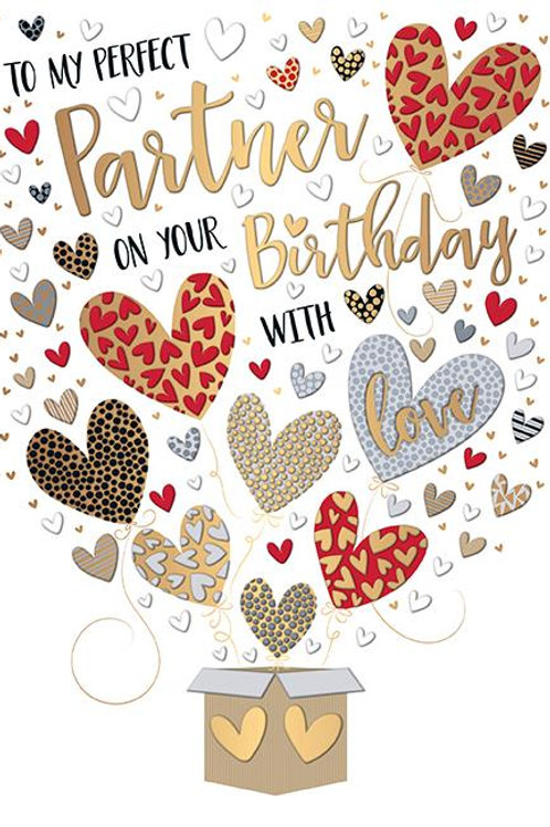 To my perfect Partner on your Birthday Card