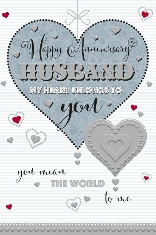 Happy Anniversary Husband card