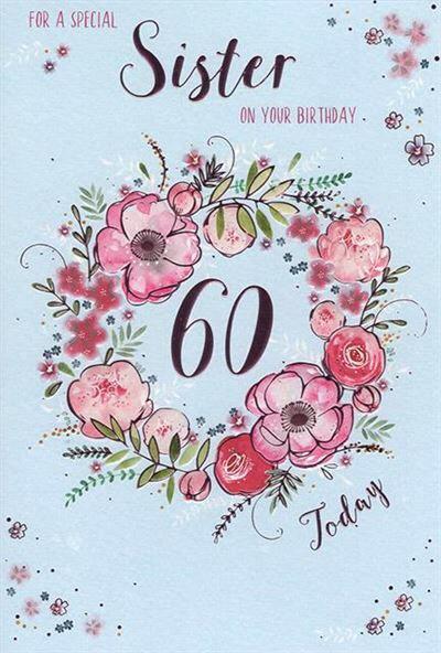 Sister 60th Birthday Card