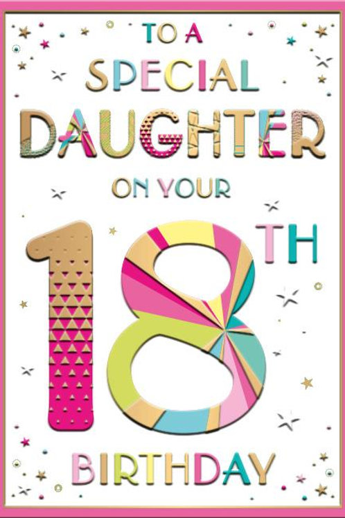Special Daughter on her 18th Birthday card