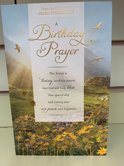 A Birthday Prayer Card From The Writings Of Helen Steiner Rice Beautiful