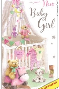 Congratulations on your New Baby Girl / New Baby Boy beautiful cards