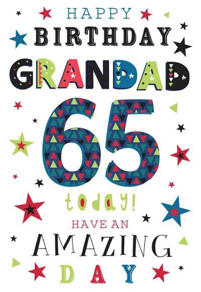 Grandad 65th Birthday card