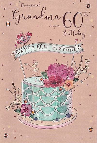 Grandma 60th birthday Card