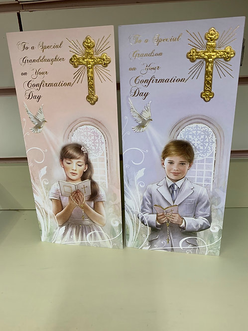 To A Special Grandson / Granddaughter on your confirmation Day