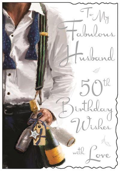 Husband 50th Birthday card