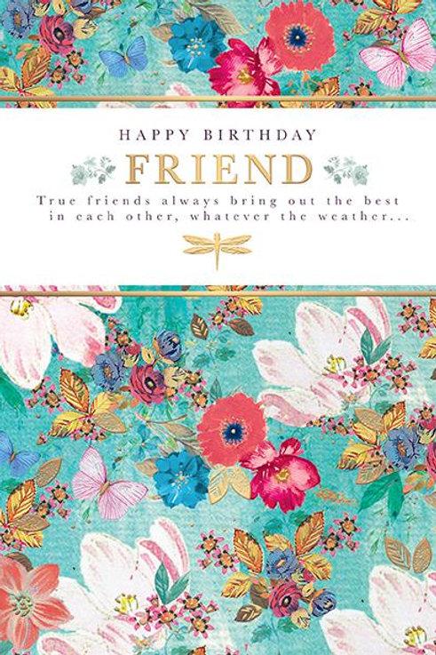 Happy Birthday Friend birthday card