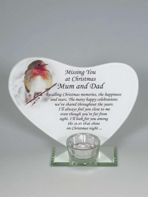 Christmas Memorial Robin Tea-Light Holder