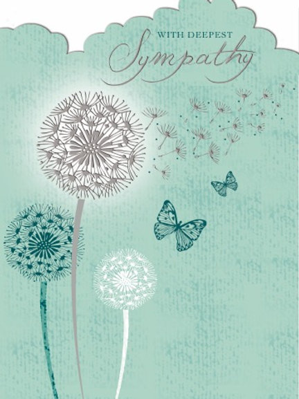 With Deepest Sympathy Card Plain But Lovely